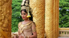 Stock Video Footage of Apsara Dancer seductive beautiful supernatural female in asian mythology
