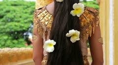 Apsara Dancer seductive beautiful supernatural female in asian mythology - stock footage