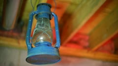 Antique lantern old timey Stock Footage