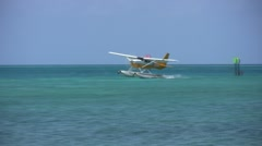 sea plane lands-Apple ProRes 422 - stock footage