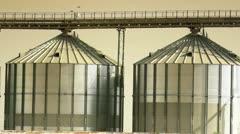 Steel grain silos Stock Footage