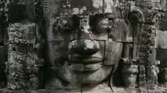 Bayon temple, angkor, cambodia Stock Footage
