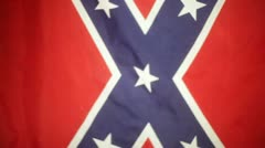Confederate flag real Stock Footage