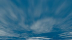 Beautiful cloudy sky time lapse backdrop with selective focus on horizon, Full H Stock Footage