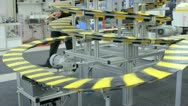 Vertical conveyer belt and people Stock Footage