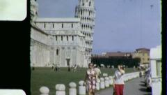 LEANING TOWER OF PIZA Italy Florence 1970 Vintage Film Home Movie 4197 Stock Footage