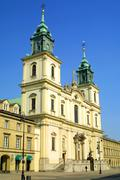 Church of the holy cross in Warsaw - stock photo