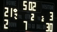 Sports Scoreboard Stock Footage
