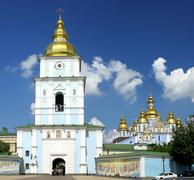 St. Michael's golden-domed cathedral - stock photo