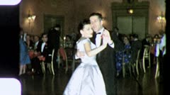 Stock Video Footage of Ballroom Formal DANCE PARTY DANCING 1960s (Vintage Retro Film Home Movie) 4200