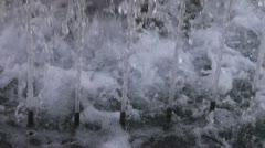 City fountain water splash Stock Footage
