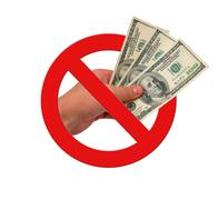 Ban on bribes Stock Illustration