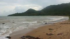 Tropical beach on Koh Tonsay Stock Footage
