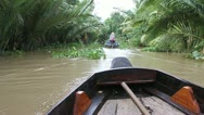 Boat on a canal Stock Footage