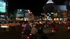Road Traffic at evening in HCMC Stock Footage