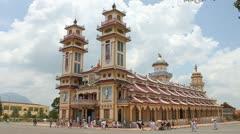 Cao Dai Temple Stock Footage