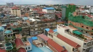 Aerial view of Pnom Penh Stock Footage