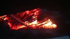 Traditional distillation of rakia (oven - bottom - close up)_3 Stock Footage