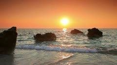 Sunset in the Ionian sea on the island of Lefkada Stock Footage