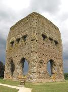 ancient temple of janus - stock photo