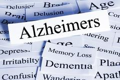 Alzheimers concept horizontal Stock Photos