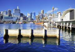 darling harbour sydney australia - stock photo