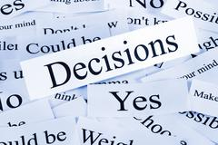 Decisions concept Stock Photos