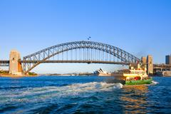 Sydey ferry crossing sydney harbour Stock Photos