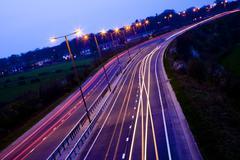 Road traffic at night Stock Photos