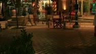 Stock Video Footage of Tourists crowded main shopping street, Agios Nikolaos, Crete