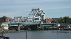 Victoria BC, Johnson St bridge wide shot Stock Footage
