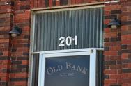 Stock Photo of Old Bank Door