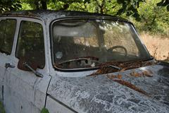 Forgotten old car Stock Photos