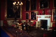 Country Houses of England, Blenheim Palace, interior, wide, period room Stock Footage