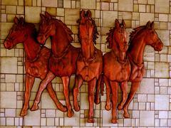 Concrete horses Stock Photos