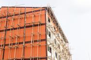 Apartment under construction Stock Photos