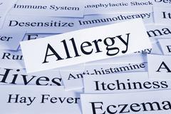Allergy concept Stock Photos