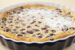 Cherry clafoutis french food dessert Stock Photos