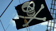 Pirate flag - stock footage