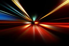 Stock Photo of abstract night acceleration speed motion