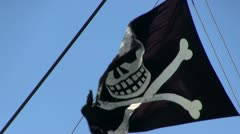 Stock Video Footage of Pirate flag; 2