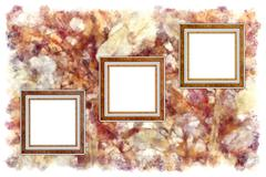 frames old leather on a abstract art grunge background - stock photo