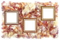 Frames old leather on a abstract art grunge background Stock Photos