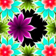 Abstract frame applique flower Stock Illustration