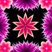 Abstract applique flower Stock Illustration
