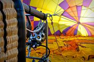 Hot air balloon basket Stock Photos