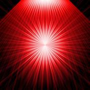 abstract radiant star - stock illustration