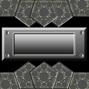 Metallic armor plates Stock Illustration