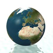 3D world globe facing Europe Stock Illustration
