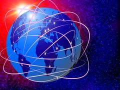 Global internet communications technology Stock Illustration